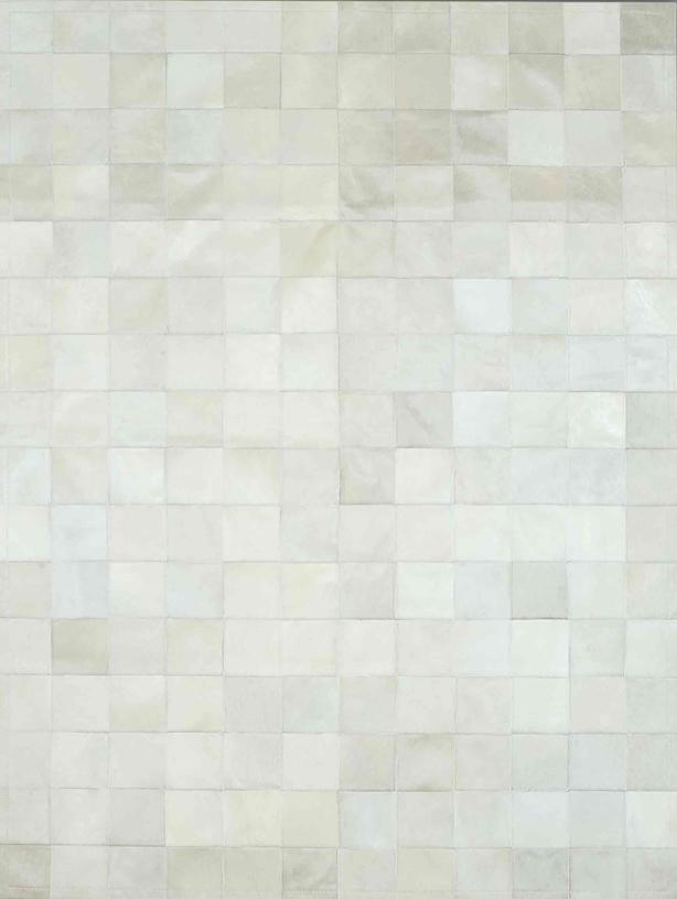 Beyaz deri halı